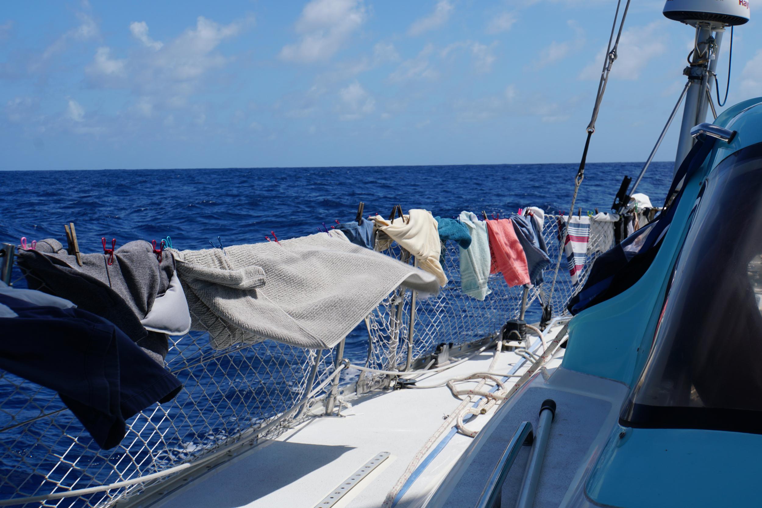 16. Laundry at sea