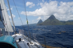 1. Approaching Soufriere Bay, St. Lucia
