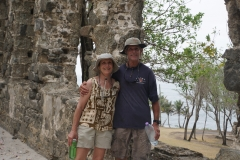 14. Willy and Tania at Fort Rodney ruins