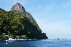 2. View of one of the Pitons from our boat