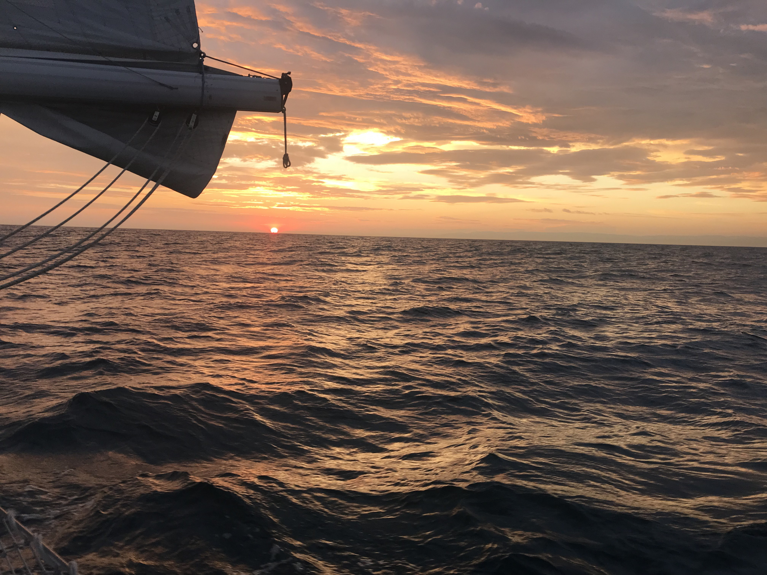 49. Sunset at sea