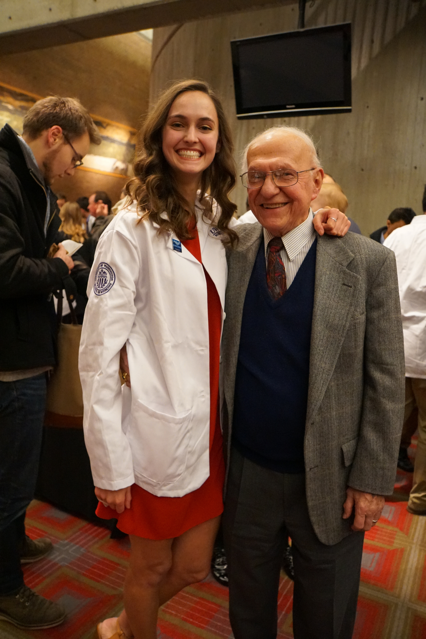 3. Chloe and Grandpa, Dr. and future Dr.