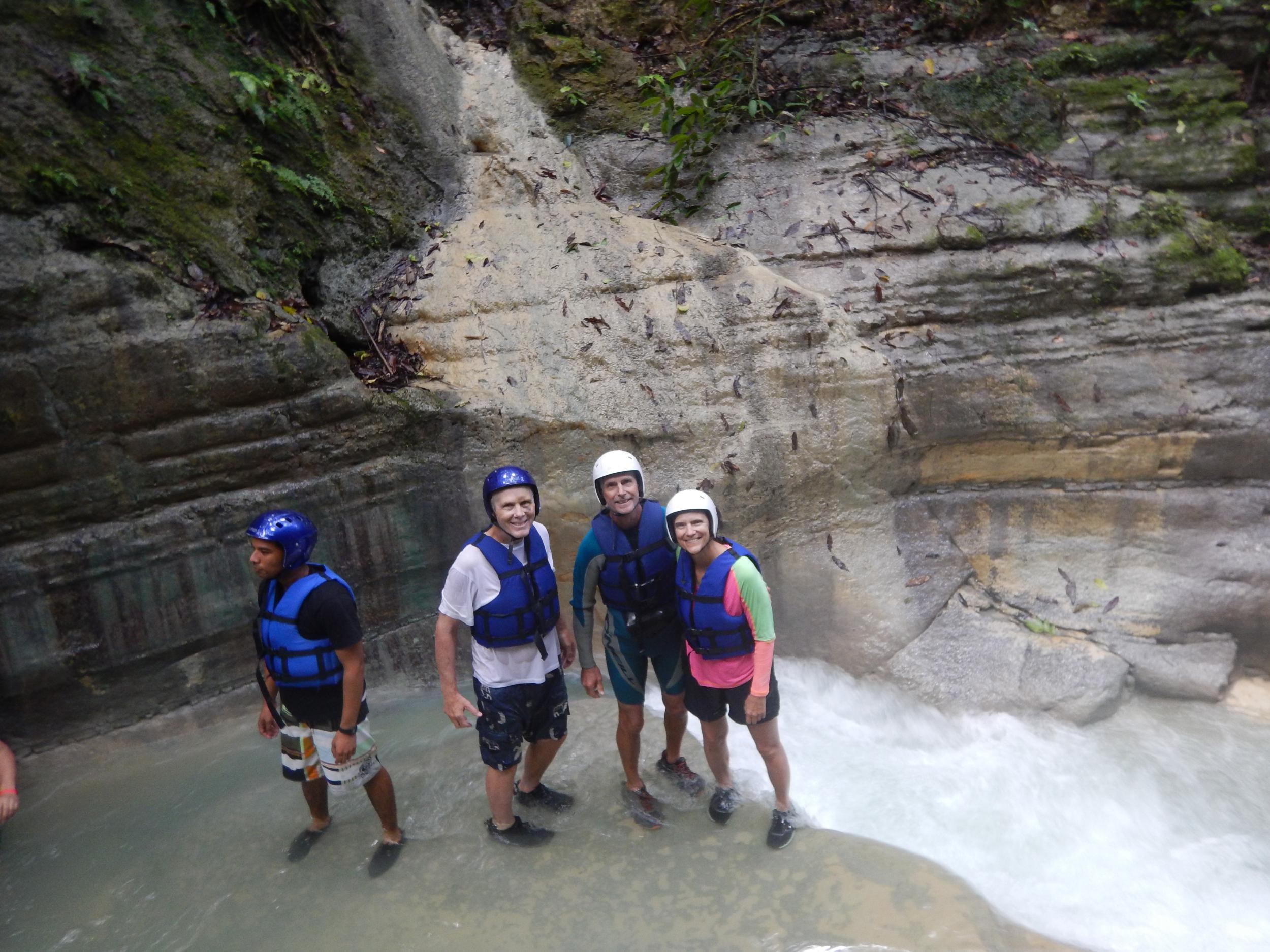 29. Playing in the 27 waterfalls, walk, jump, slide..fun