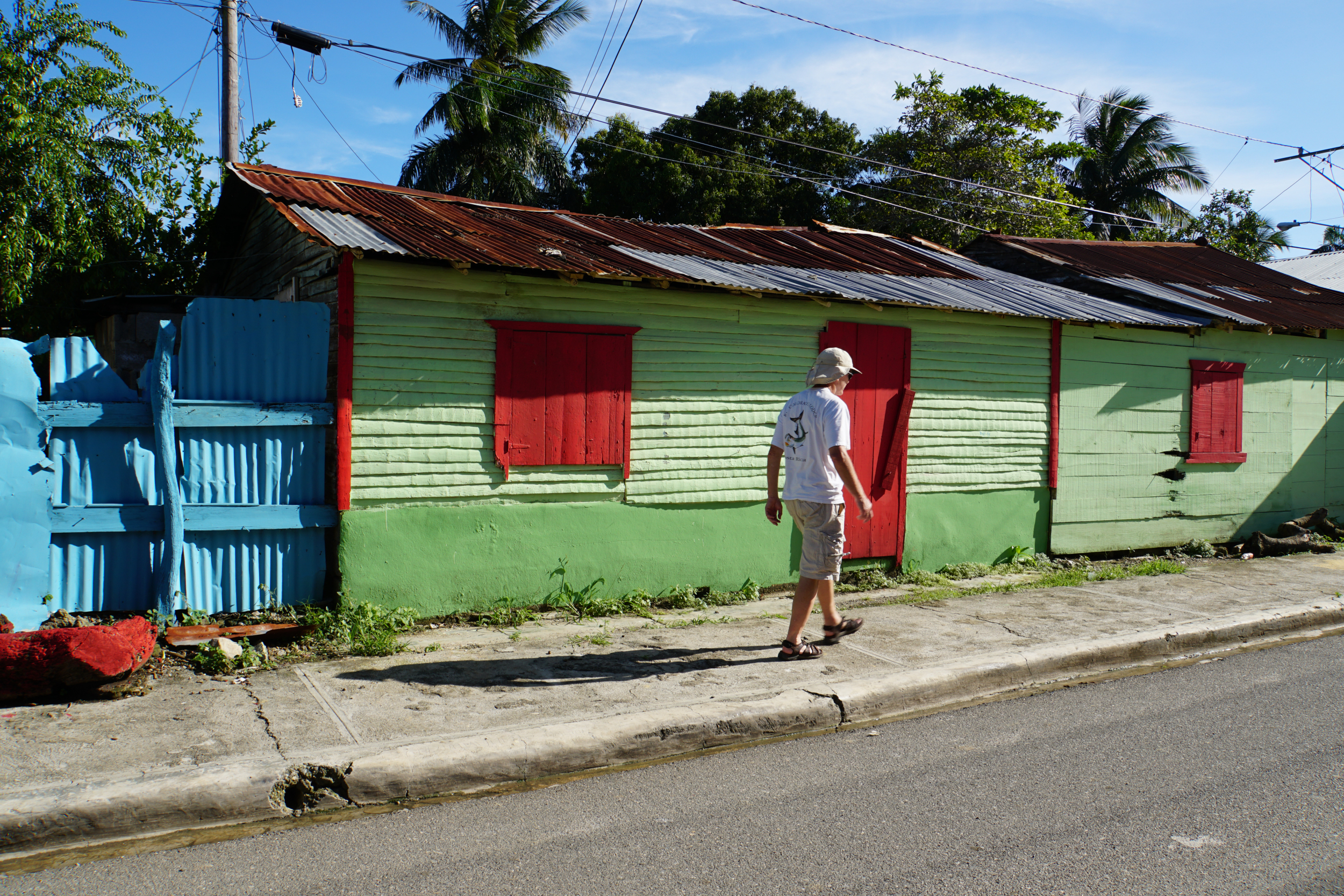 7. Bruce walking the streets of Luperon