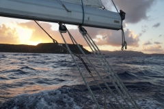 44. Overnight sail... leaving at sunset