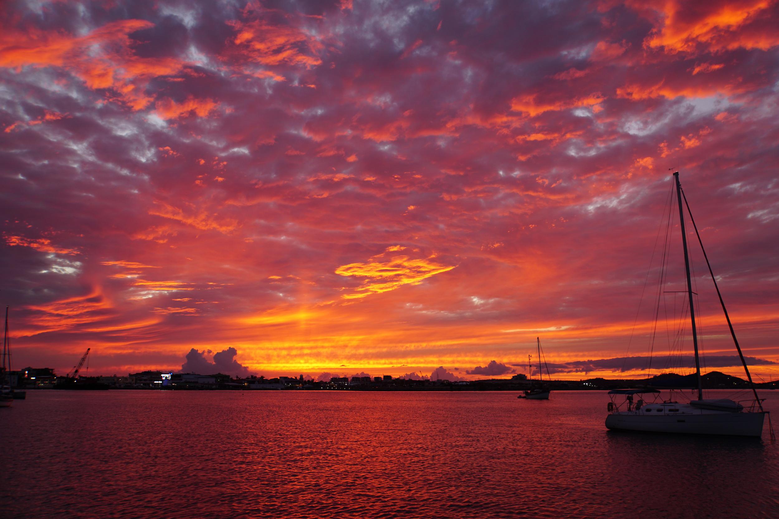 14. Sunset in the lagoon, St Martin