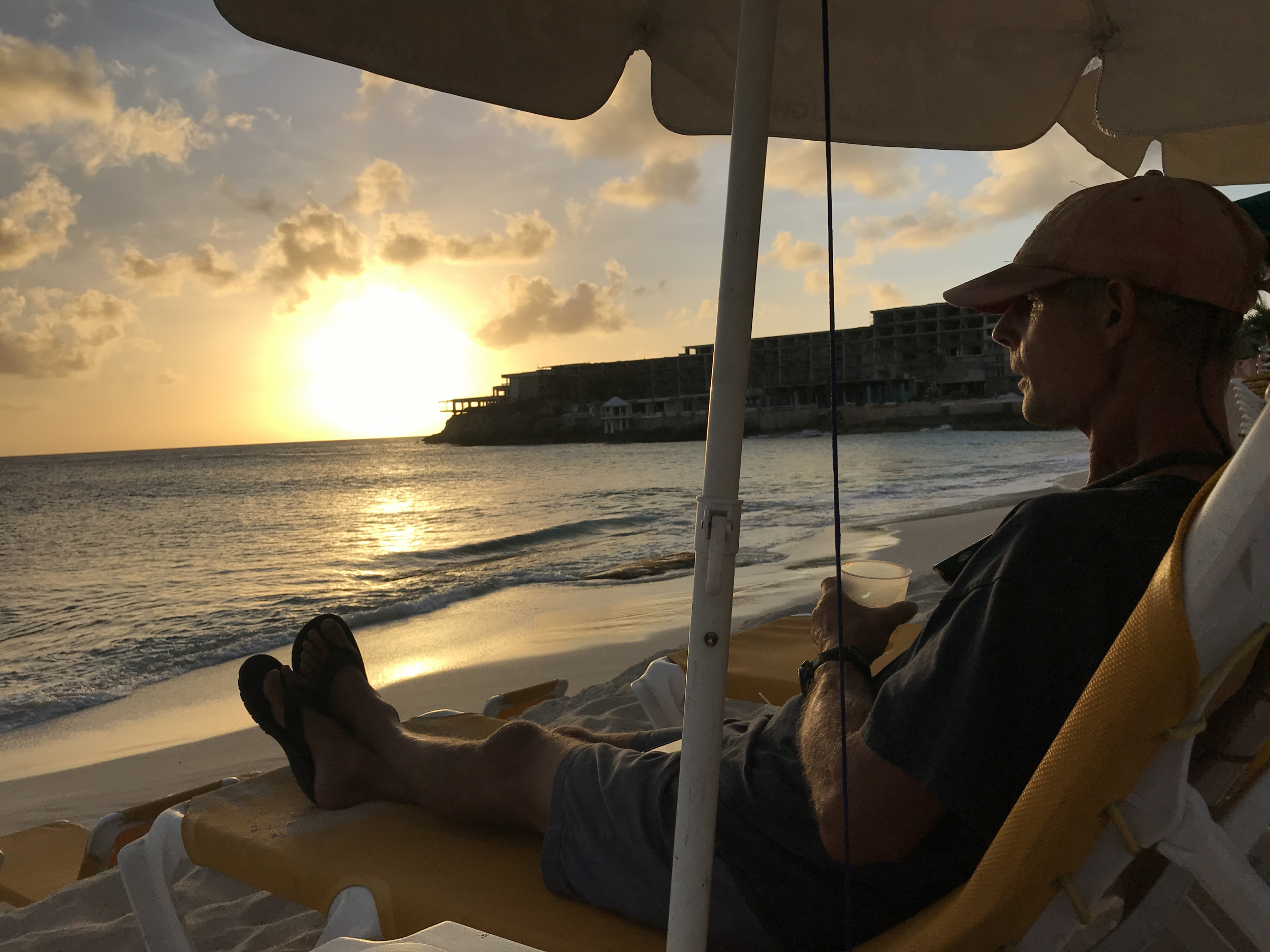 19. Rum punch at sunset