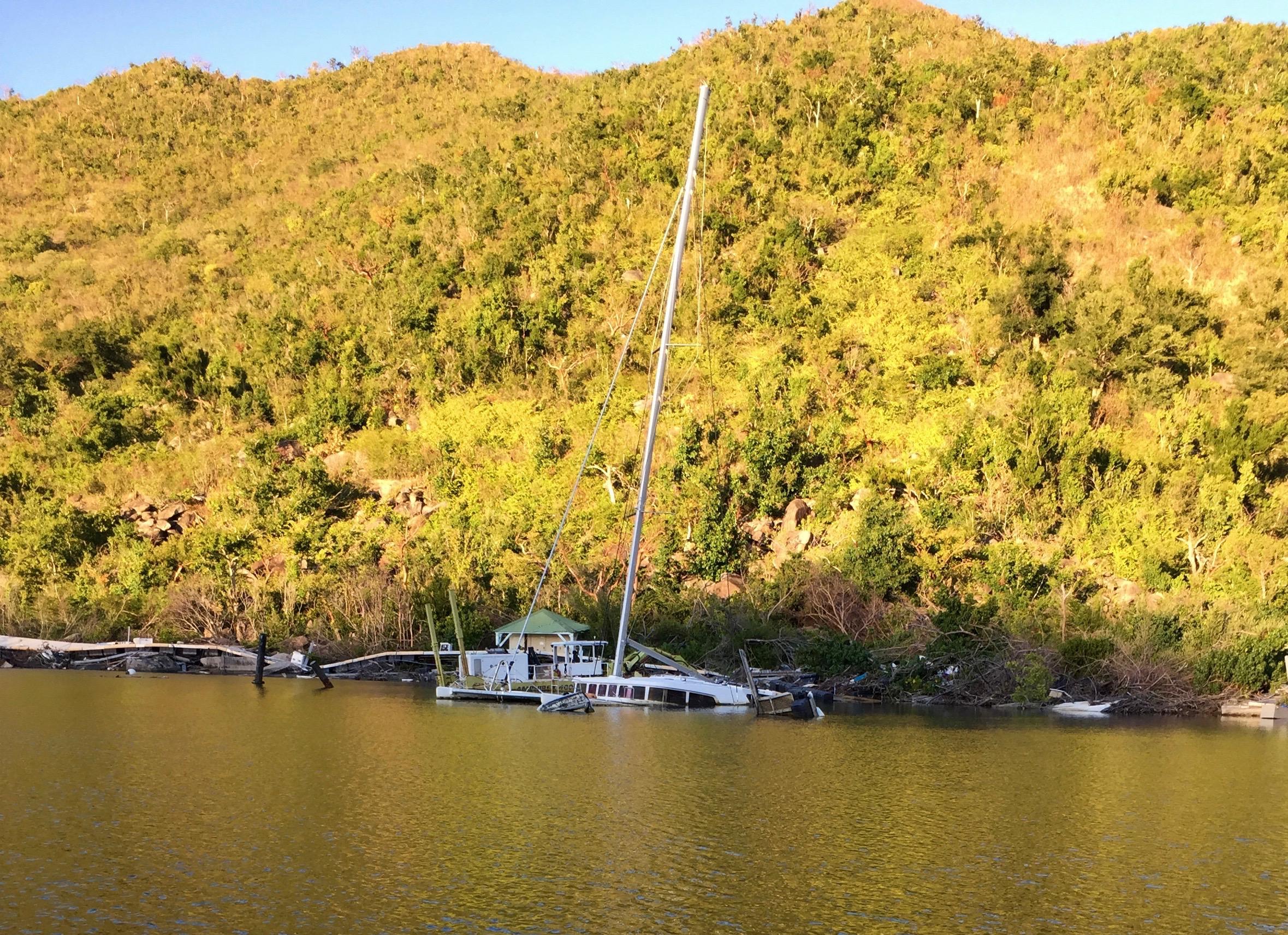 6. Sunken boats, Anse Marcel