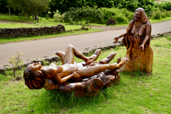 18.-Wooden-sculpture-of-woman-giving-birth-and-Anahana