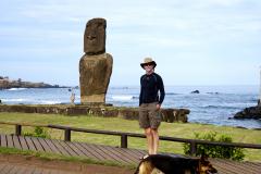 2.-Moai-at-Hanga-Roa-Harbor..and-Johnny.-Our-first-Moai