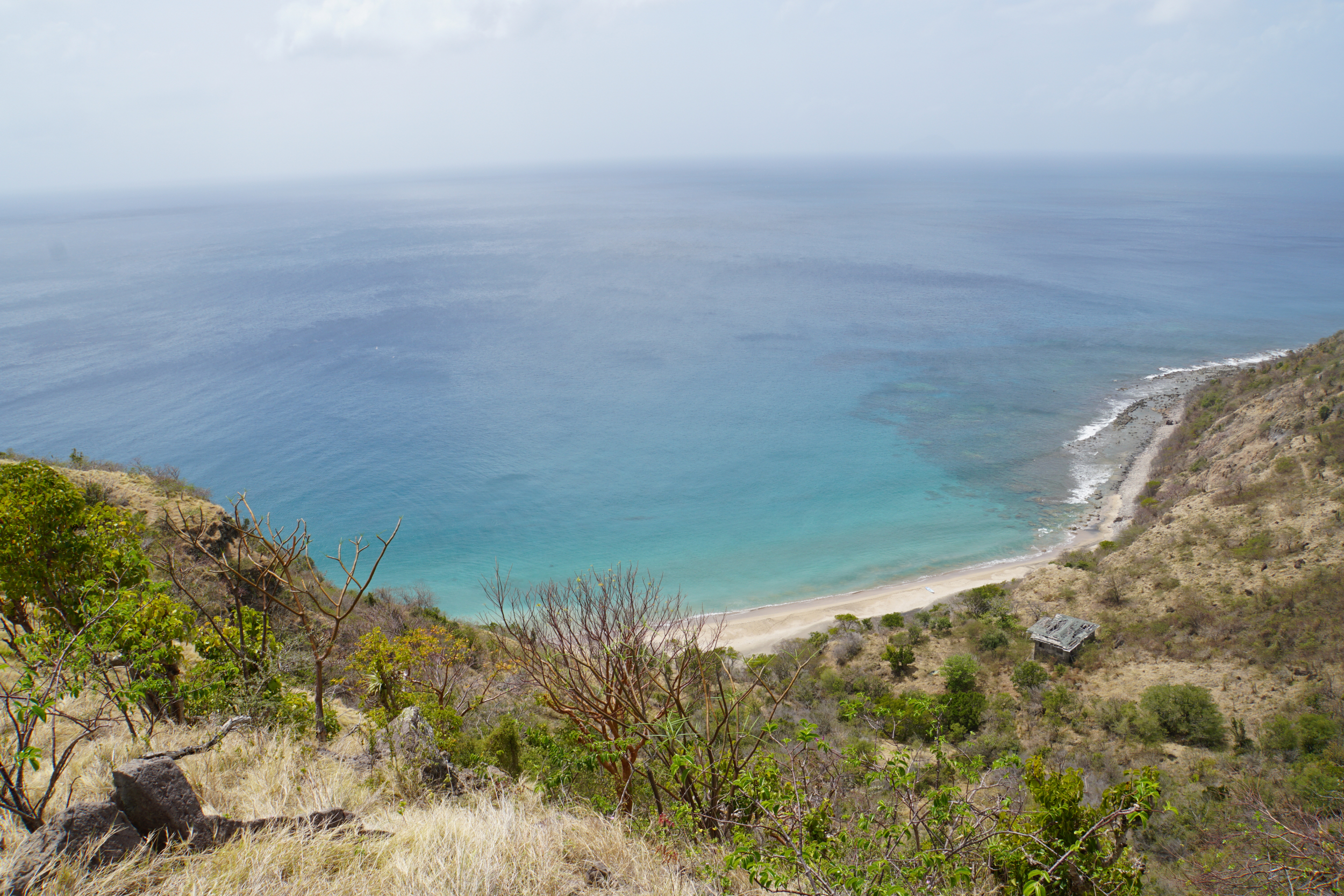 11. Rendezvous Bay, Montserrat..while hiking the hills