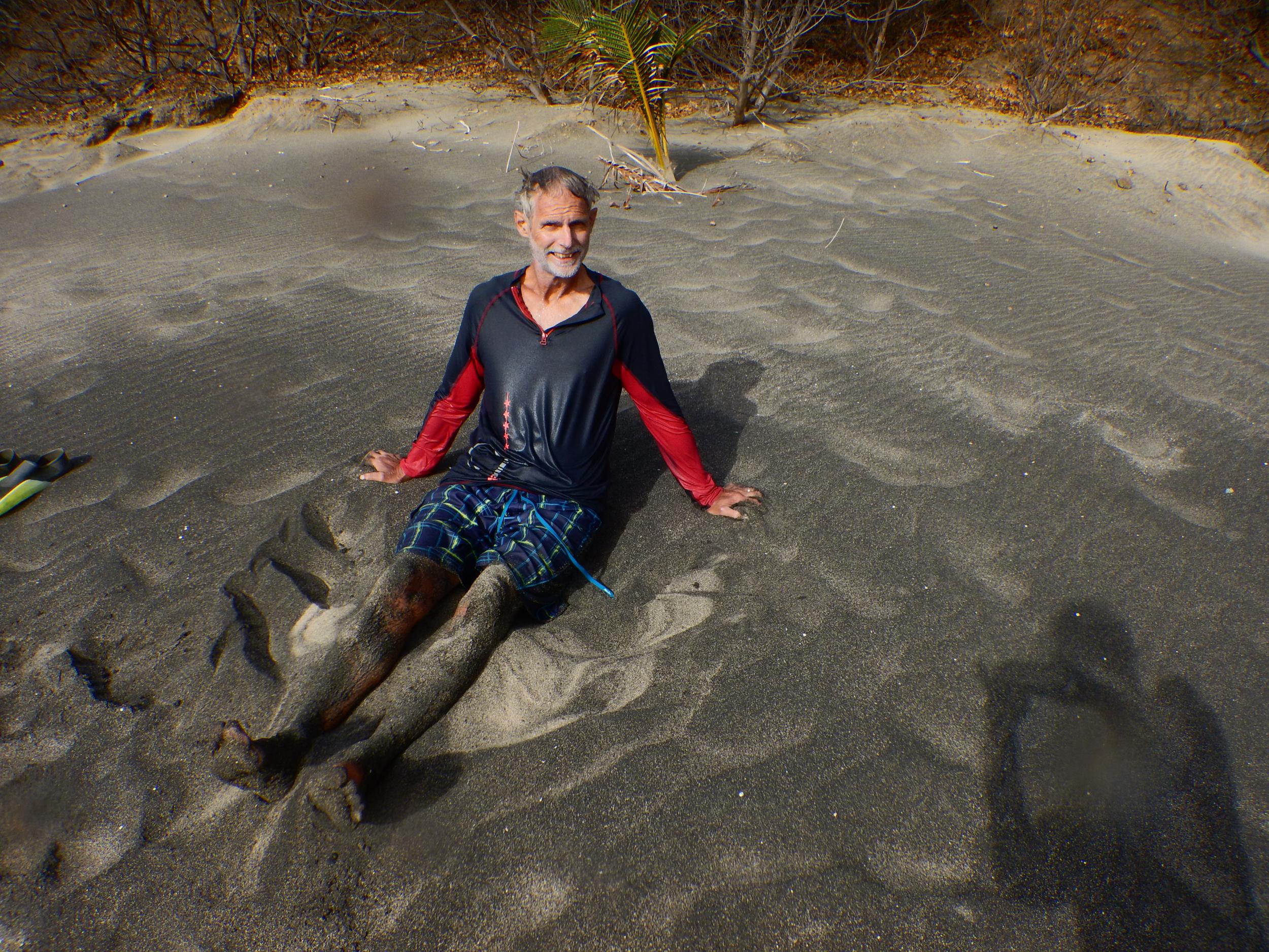 14. Black sand beach, Rendezvous Bay