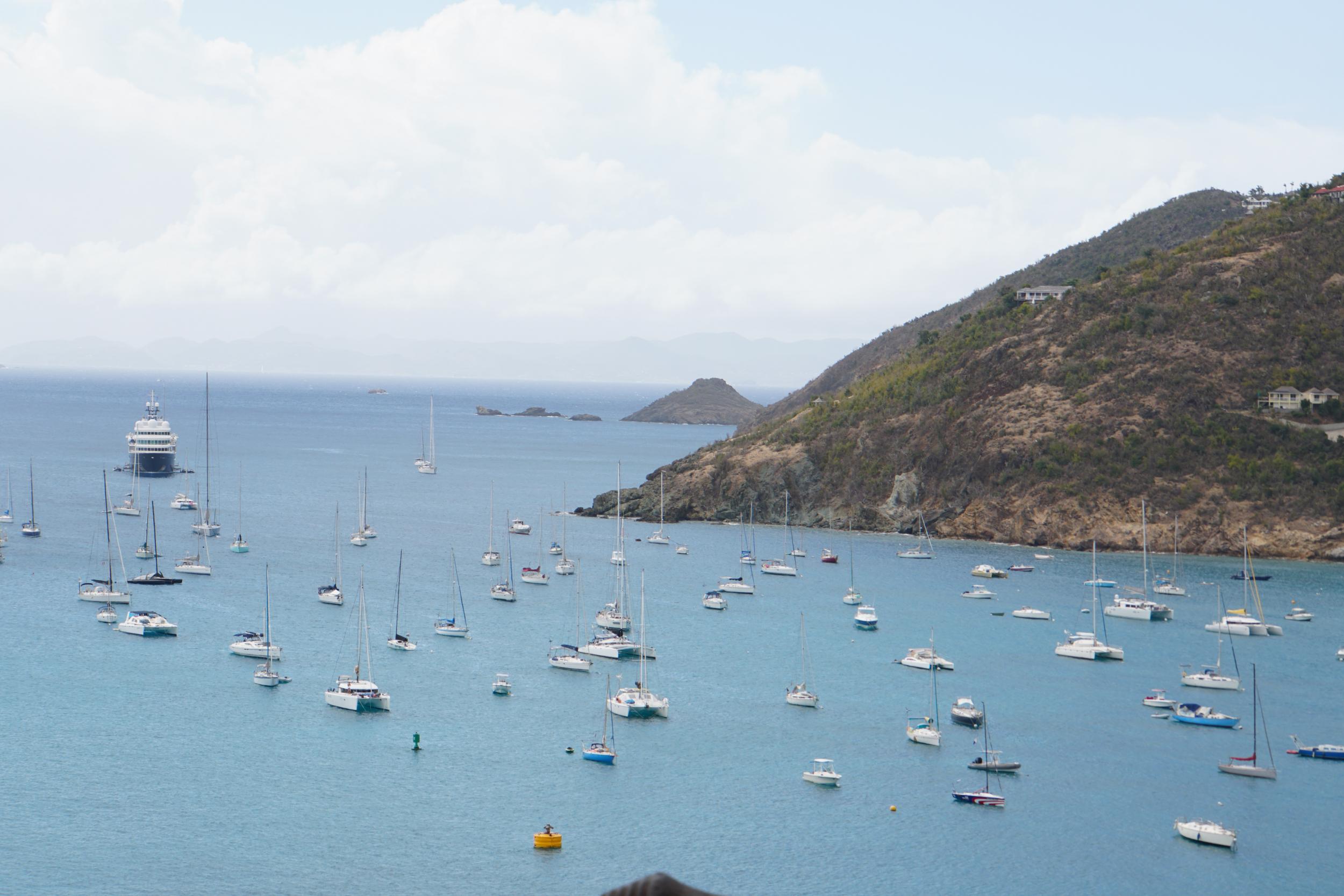 6. Boats outside Gustavia for Race Week