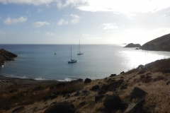 1. Pazzo at rest at Ile Fourchue, St Barts
