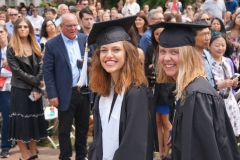 6. Kyra and Murphie walking in to graduation ceremony