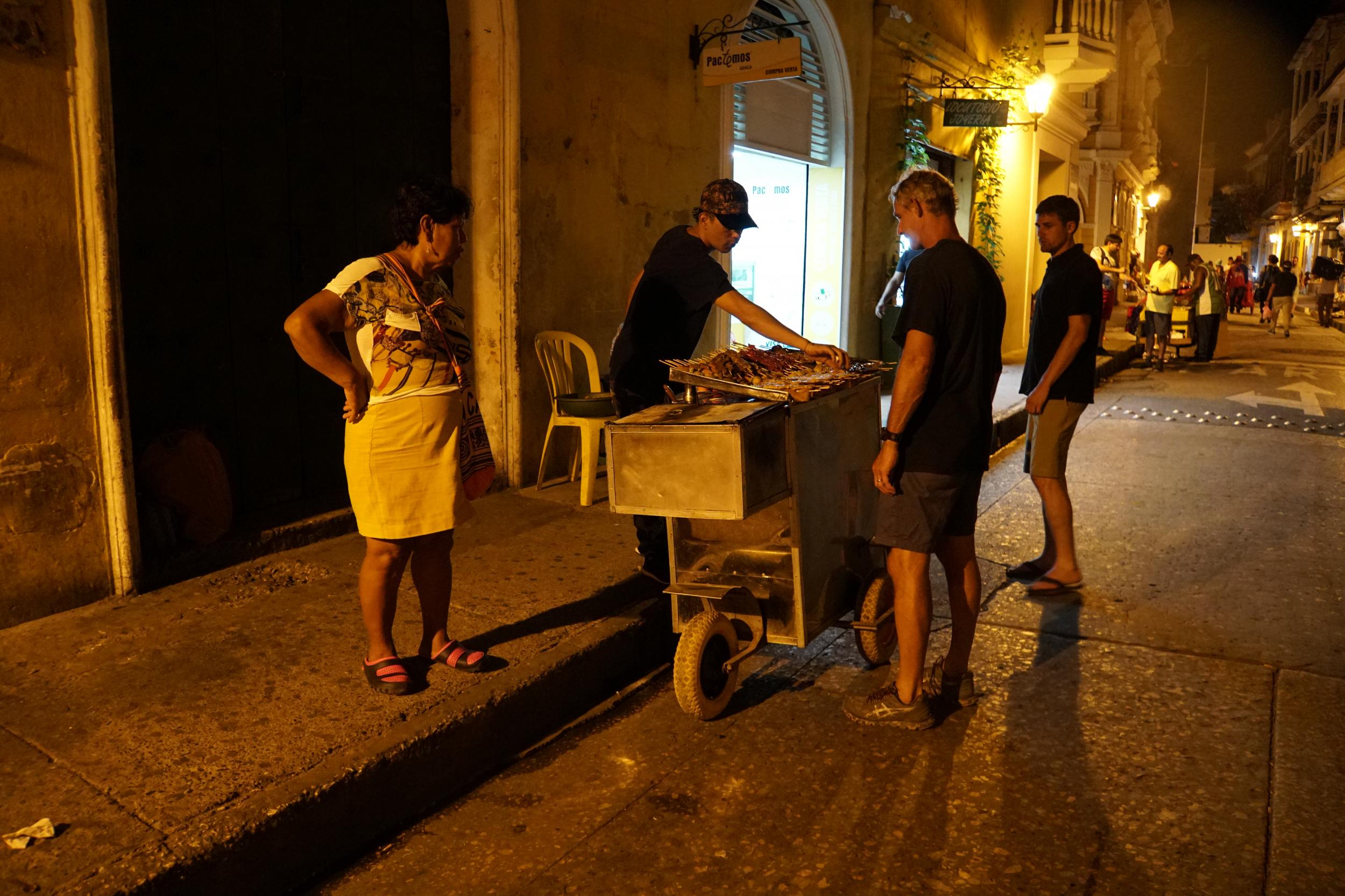 17. Street food in Cartagena