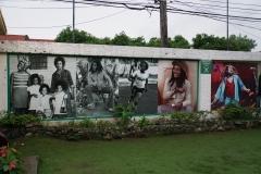 28. Walls outside Bob Marley Museum