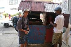 55. Buying jerk chicken from Robert