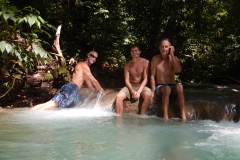 70. Willy, Jeff, and John at Mayfield Falls