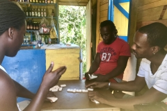 75. Dominos at the shop