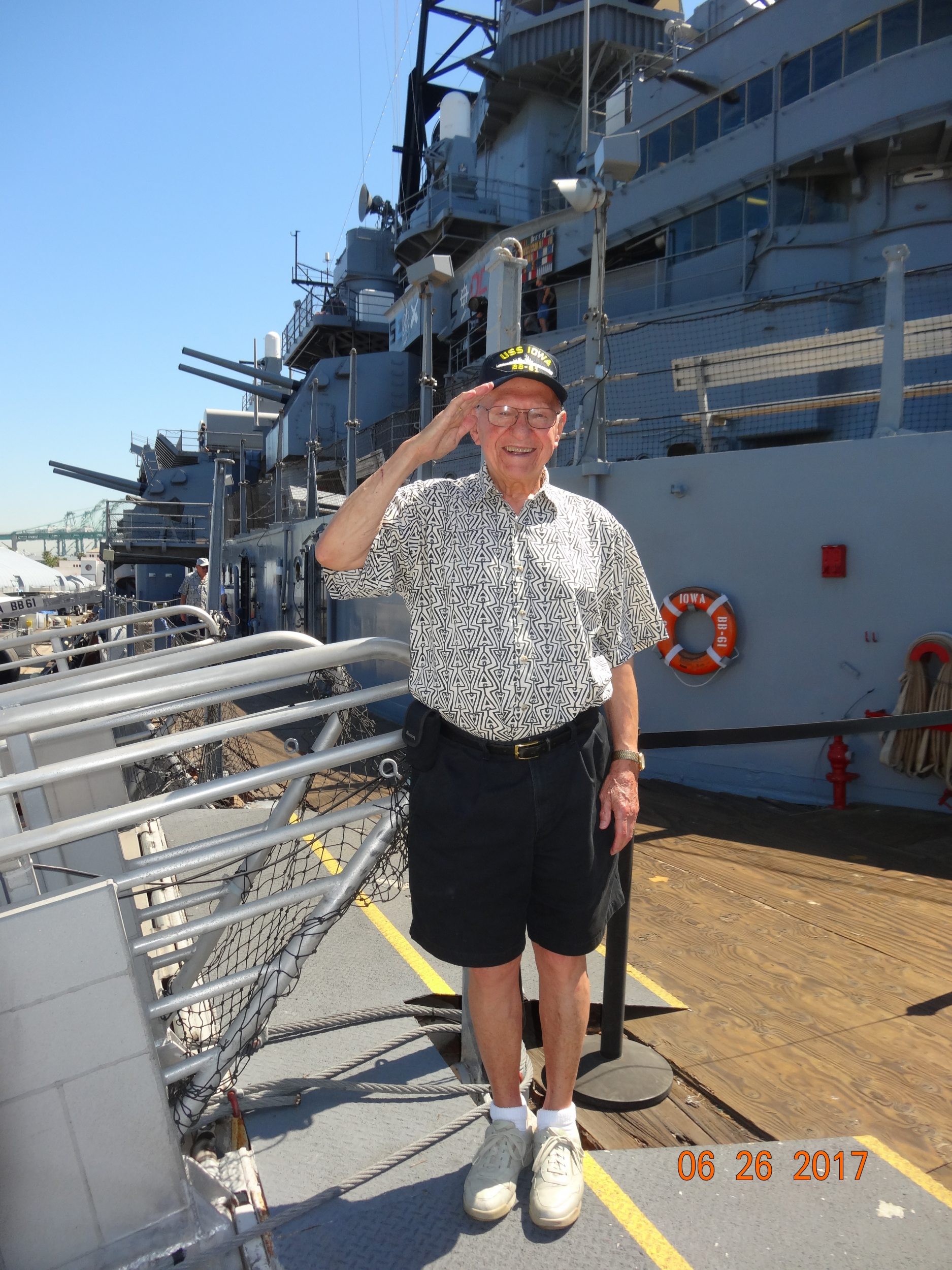 7. Dad on the USS Iowa