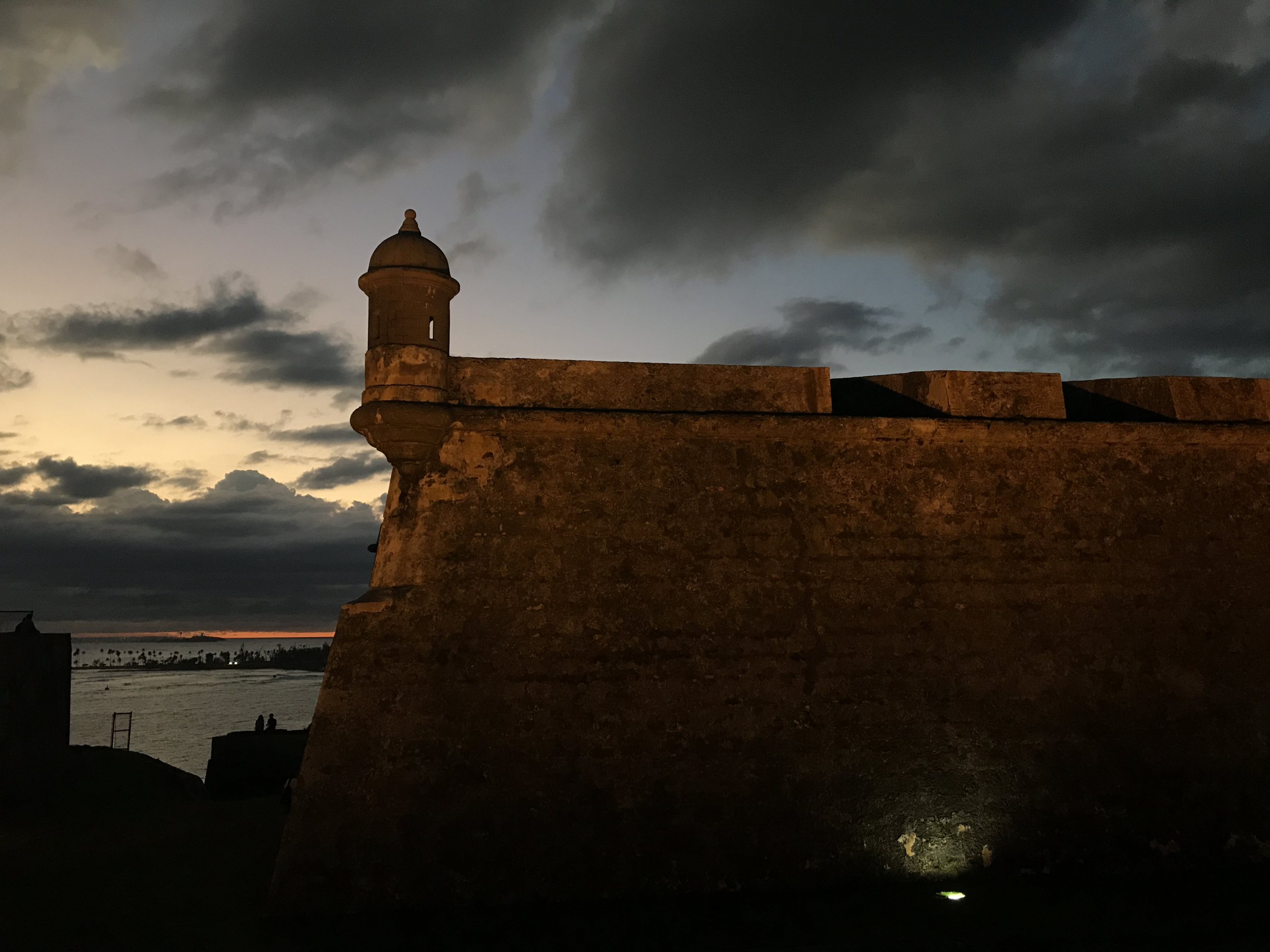 21. El Morro at night