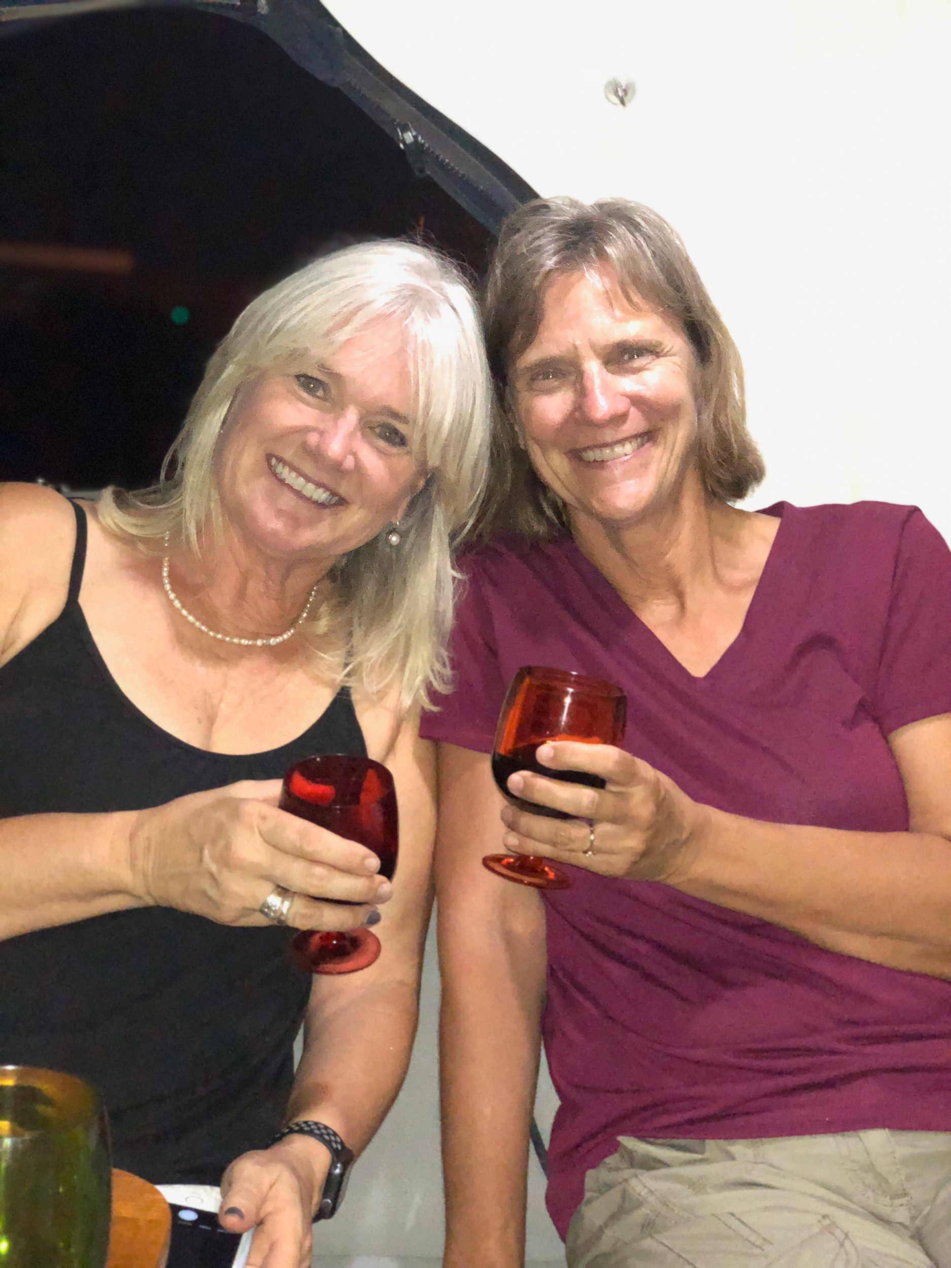 65. Julia and Cindy, Dinner in Ponce