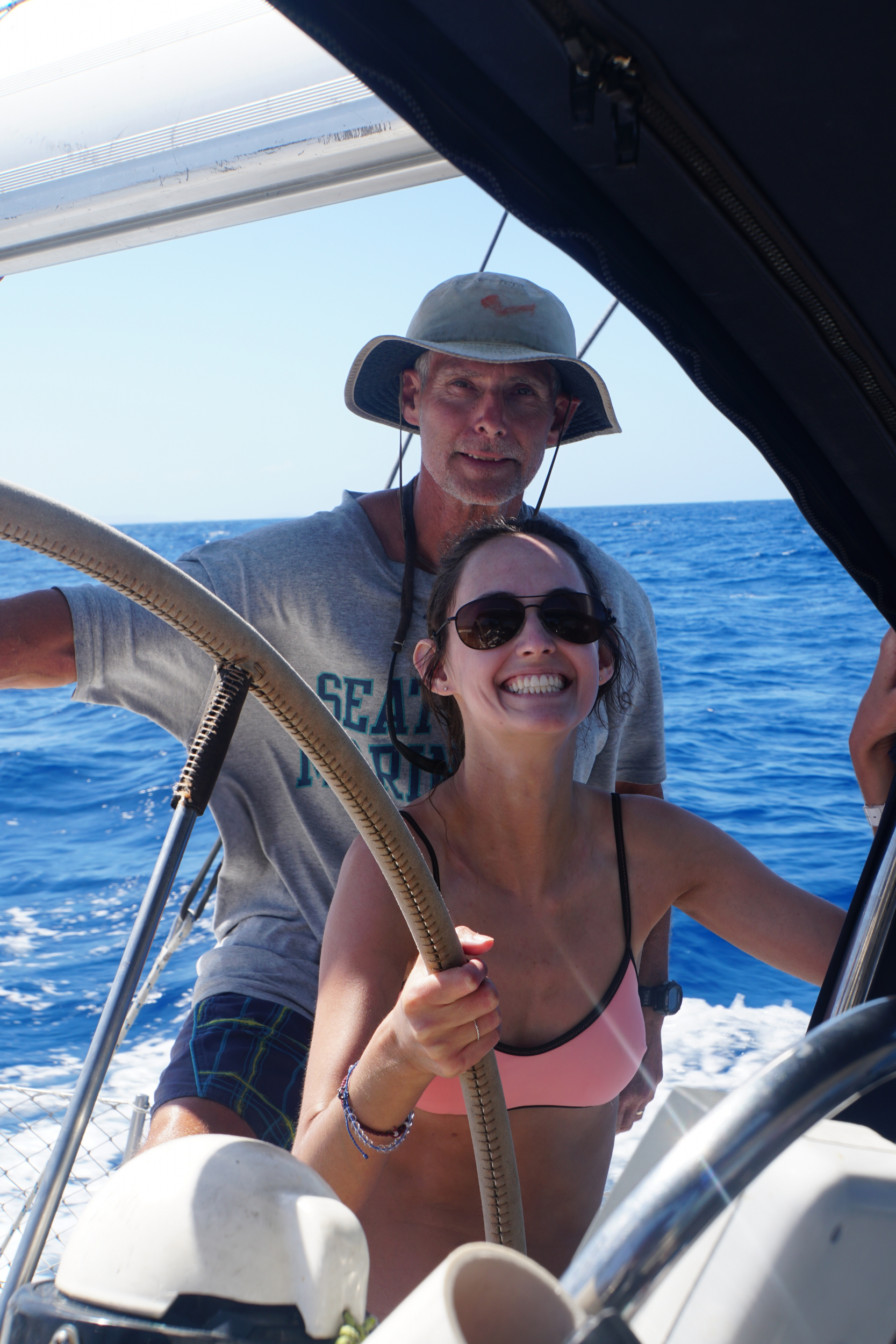 73. Refresher on steering the boat