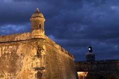22. El Morro lighthouse at night