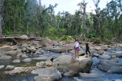 59. Chloe and Kelsey at river