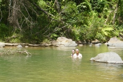 60. Brian and Chloe swimming