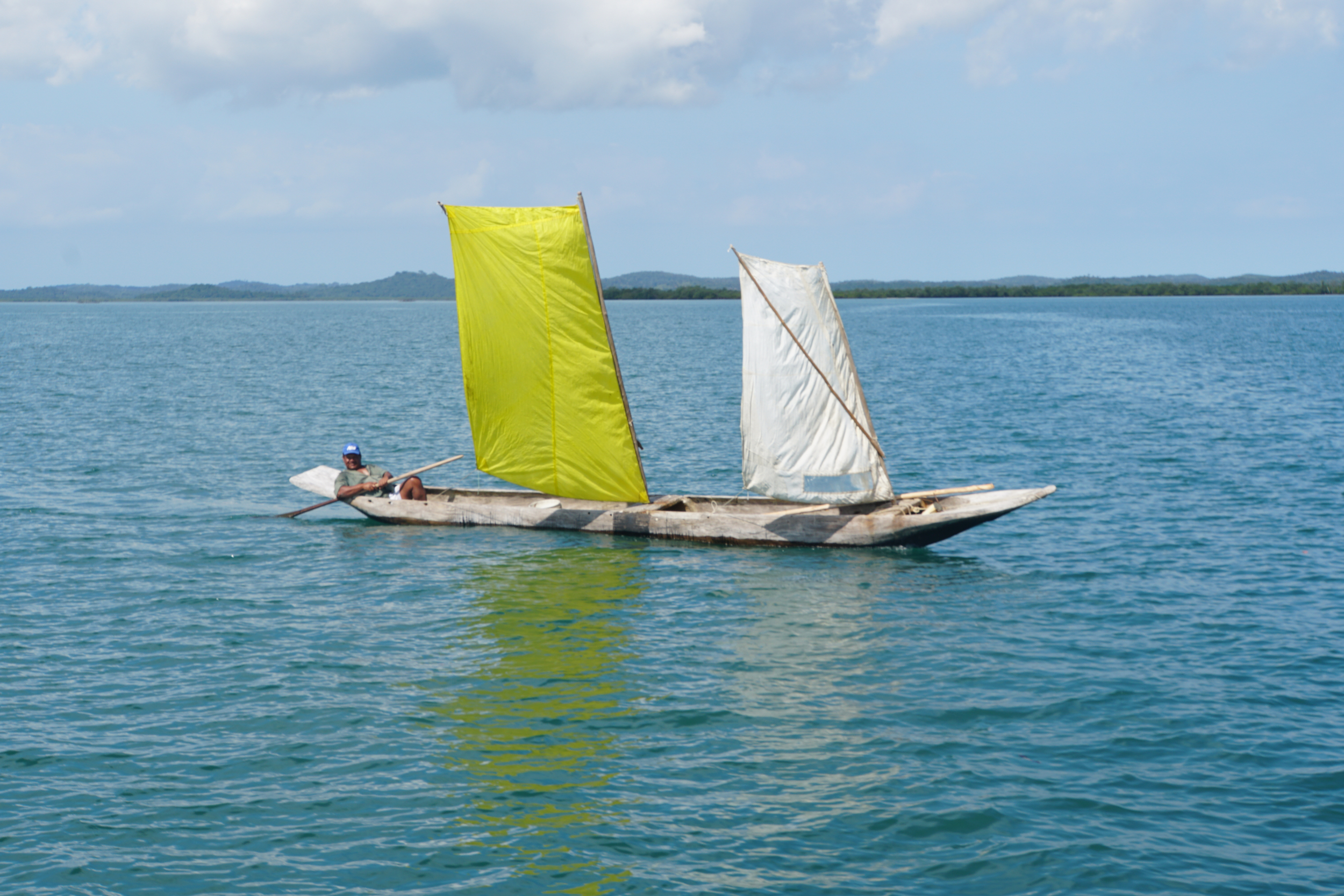 33. Native sailboat