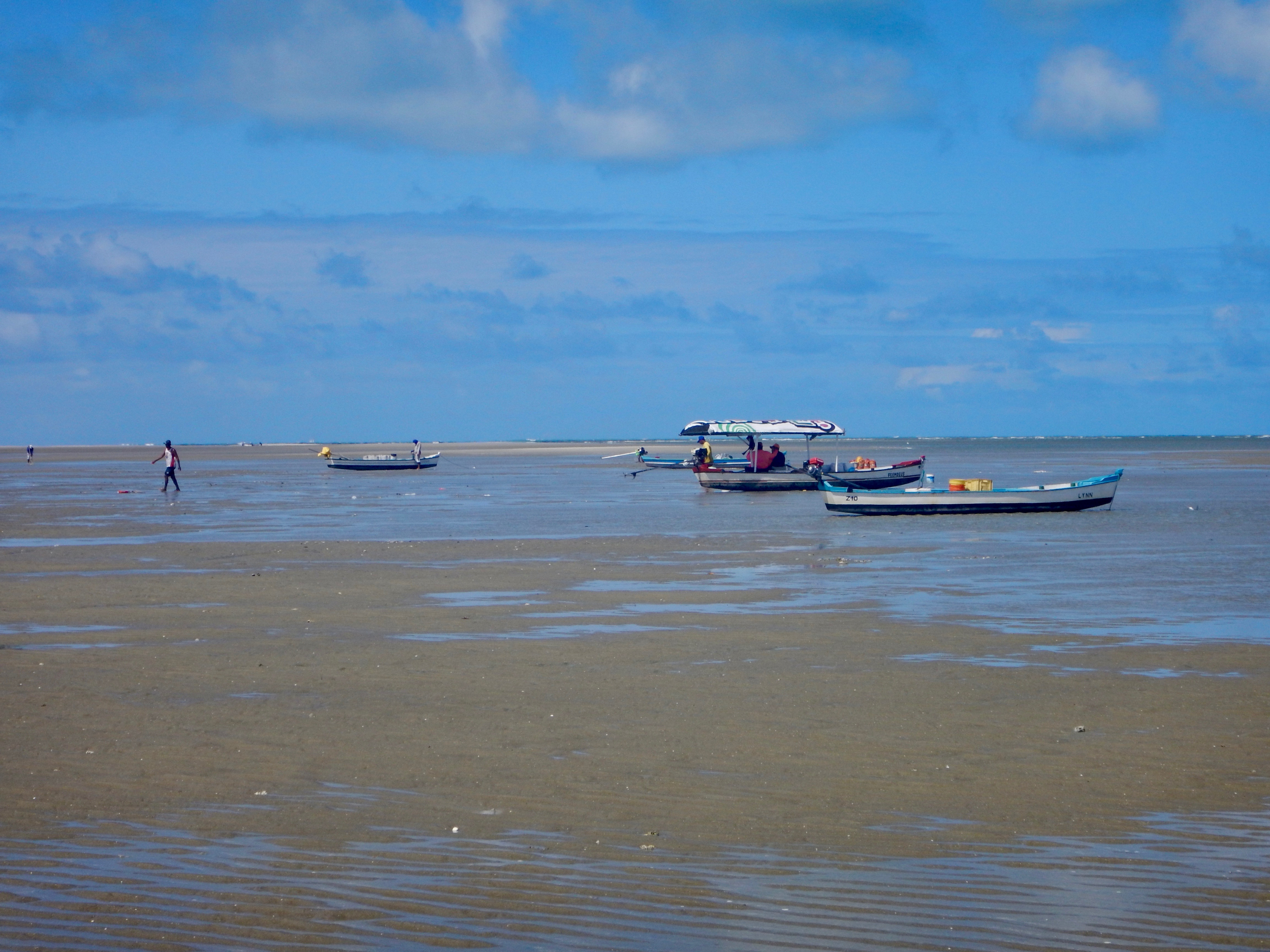 9. Boats out to harvest at Sand Island