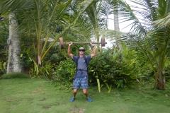 46. LIfting weights....