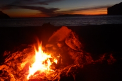 11. Sunset from our campfire