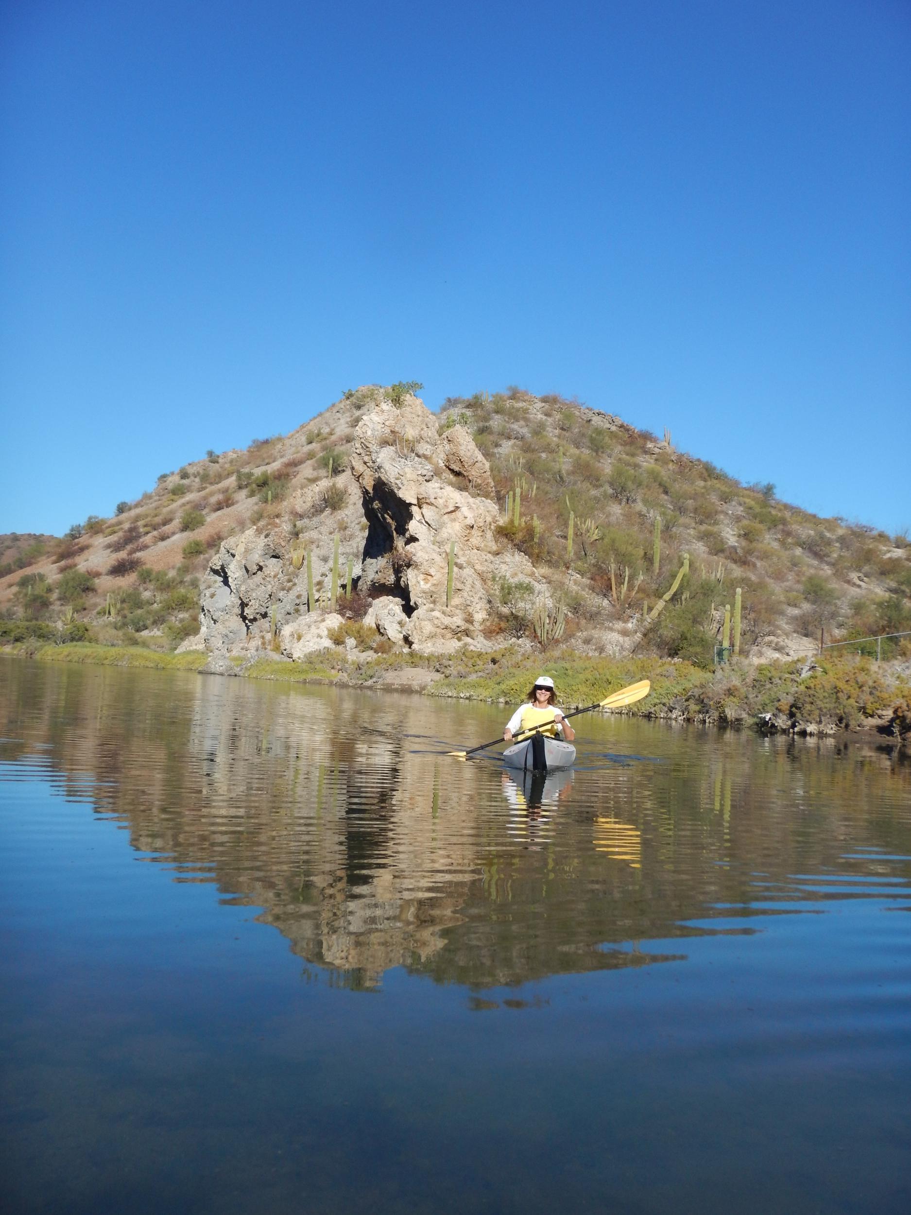13. Kayaking in lagoon at San Juanico