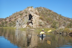 13. Kayaking in lagoon at San Juanico