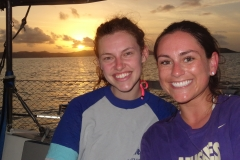 12. Kyra and Maria, another pretty sunset