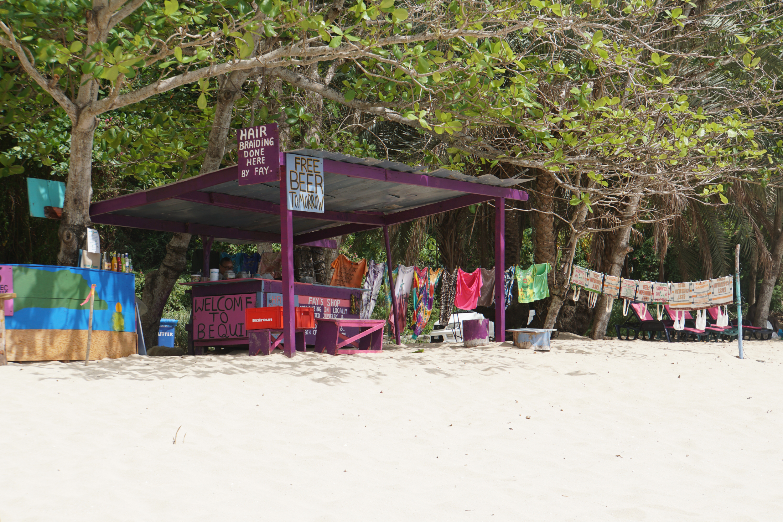 7. Beach on Bequia, no free beer today