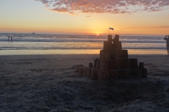 3. Sandcastle at sunset
