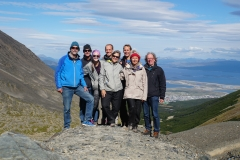 19. Christmas hike: John, Willy, Chloe, Lars, Cindy, Floris, Helen and Hans