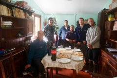 8. Visiting armada in Puerto Perry, they made us pizza!